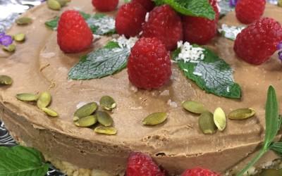 "Divinely Decadent Chocolate ""Cheezecake"" Torte (Vegan, Raw)"
