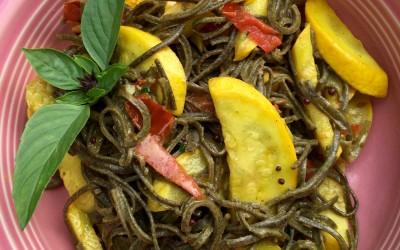 Kitchari Spiced Coconut Black Bean Noodles